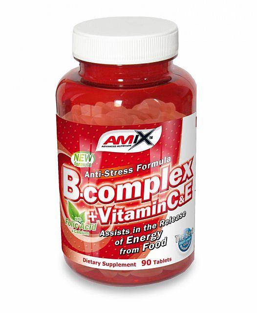 Výsledek obrázku pro Amix B-Complex + Vitamin C a E 90 tbl